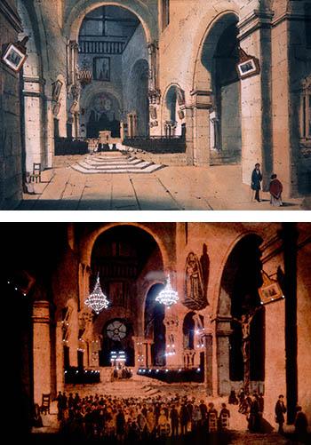 Le Diorama de Daguerre : Effets de lumières du jour et de nuit